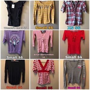 Women's size small and extra small clothing