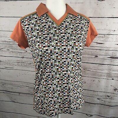FILA Women's Orange Polo Shirt Top Size L