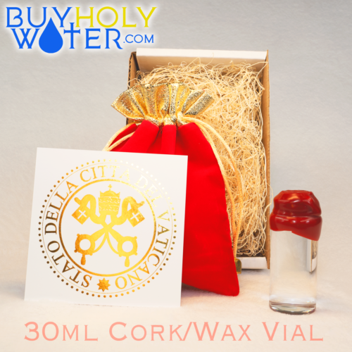 Pure Holy Water Authentic Wax Sealed 30mL Cork Vial Hand Made Limited To 100 - $25.99