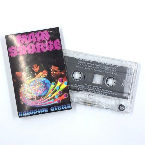 MAIN SOURCE Breaking Atoms Cassette Tape 1991 Rap Hip-Hop Rare