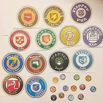 Call Of Duty Zombies Perk Bottle Front Stickers Labels And Cap Labels 40 (Call Of Duty Zombies Perk Bottle Labels)