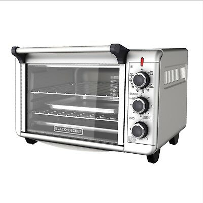 CONVECTION OVEN Countertop Pizza Toaster Stainless Fortify Baking Broiling Kitchen