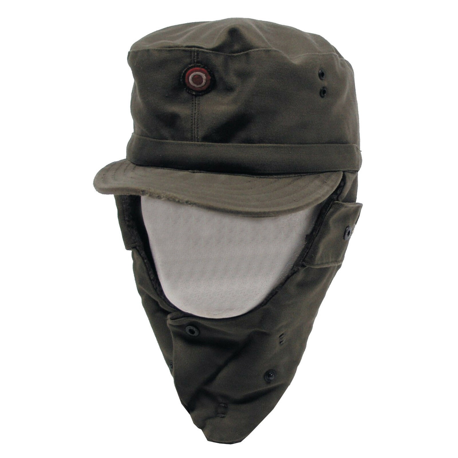 Genuine Austrian Army Olive Green Winter Pile Cap Hat Grade 1. GENUINE Austrian  ARMY ISSUED GRADE 1 USED CONDITION FOLDING EAR FLAPS WITH Button Poppers 722dd402a29