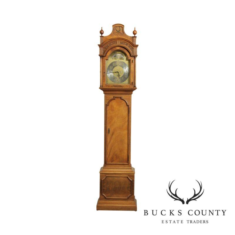 Colonial of Zealand Mahogany Tall Cased Grandfather Clock
