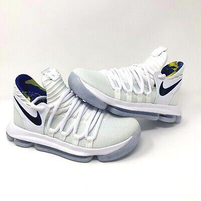61737e81528c Nike Zoom KD10 LIMITED NBA - White   Game Royal - AJ7781-101 (Boys