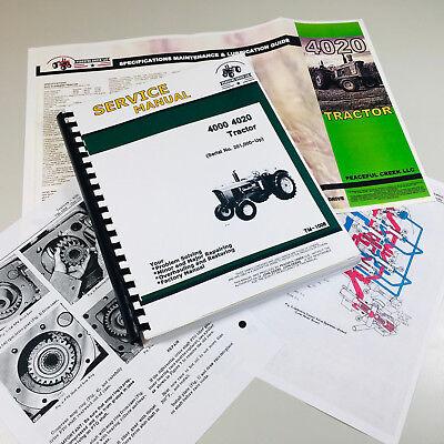 Service Manual For John Deere 4020 4000 Tractor Technical Repair Overhaul Tm1006