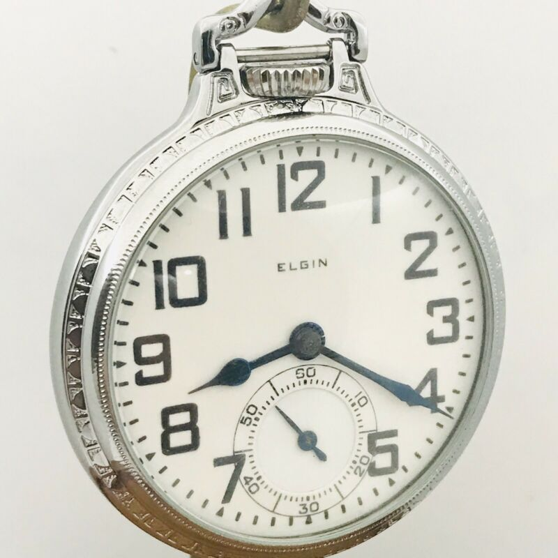 Stunning 1925 Elgin 16S 21J BW Raymond Gr 478 Display BOC Railroad Pocket Watch