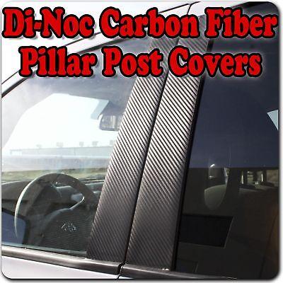 Di-Noc Carbon Fiber Pillar Posts for Nissan Altima (4dr) 93-97 6pc Set Door Trim 97 Nissan Altima Carbon