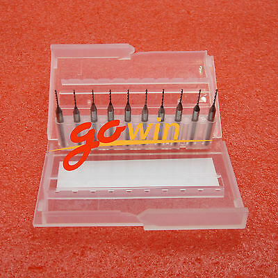 10pcs 0.8mm Mini Carbide Steel Engraving Drill Bit Pcb Press Cnc Dremel New