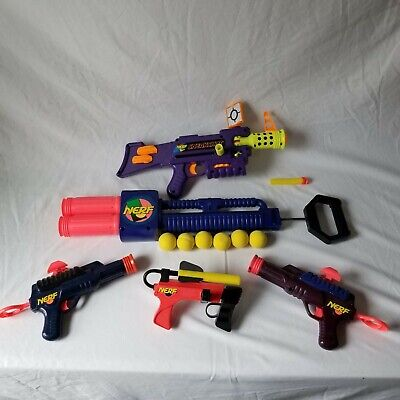 Vintage 90s Kenner Nerf Gun Lot - Sneak Shot, Sharpshooter, NB-1, Master Blaster