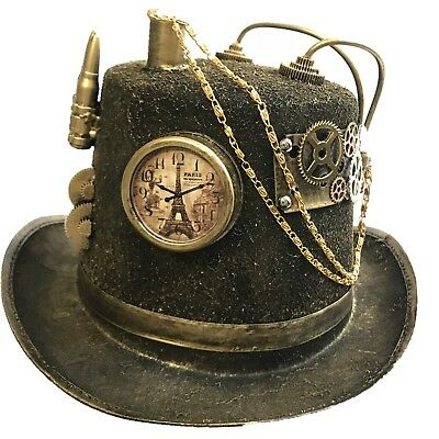 Steampunk Top Hat Mad Scientist Halloween Costume Cosplay Party With Goggles - Top Hat Costume