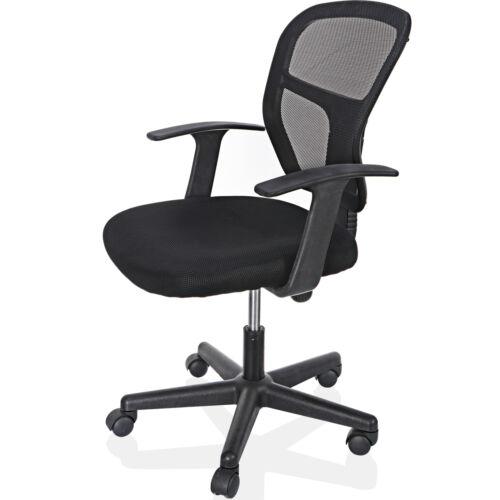 Black Ergonomic Executive Mesh Chair Swivel Mid Back Office Chair Computer Desk  4