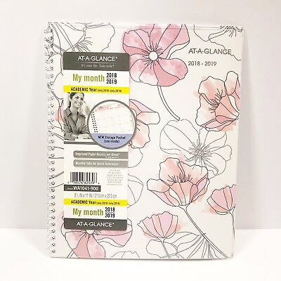 20182019 Academic At A Glance Fashion Weekly Monthly Planner Calendar 8 X 11