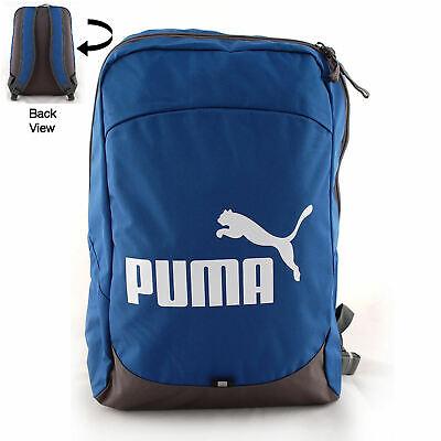 NEW Puma BTS Backpack Rucksack Gym School College Bag Blue/Grey Stocking filler