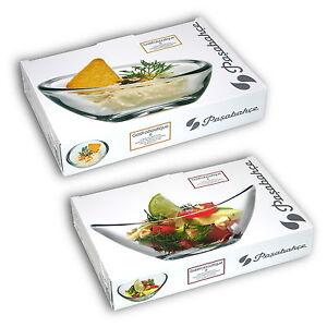 12tlg. Glas Schälchen Set, 6 kleine Salatschalen + 6 Dessertschalen / Dipschalen