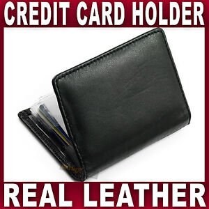CREDIT CARD HOLDER Real LEATHER wallet 12 ID oyster credit cards Gents Ladies