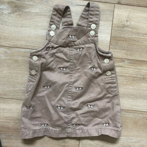Ralph Lauren Vintage Dog Embroidered Overall Dress 12-18 Months