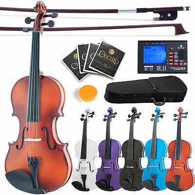 "Mendini Student Viola w/ Tuner 16"" 15"" 14"" 13"" 12"" ~Wood Black Blue Purple White"
