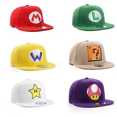 io Bros Theme Snapback Baseballkappen (Super Mario Theme)