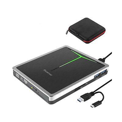 USB 3.0 USB C CD/DVD+/-RW Drive Burner Optical Disk Drive Player Reader Durable