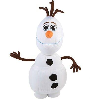 "Plush OLAF 24"" Frozen 2 Snowman Disney Stuffed Pillow Snuggle NWT Sewn Features"