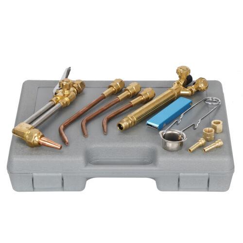 Gas Welding Cutting Welder Kit Oxy Acetylene Oxygen Torch with Storage Case