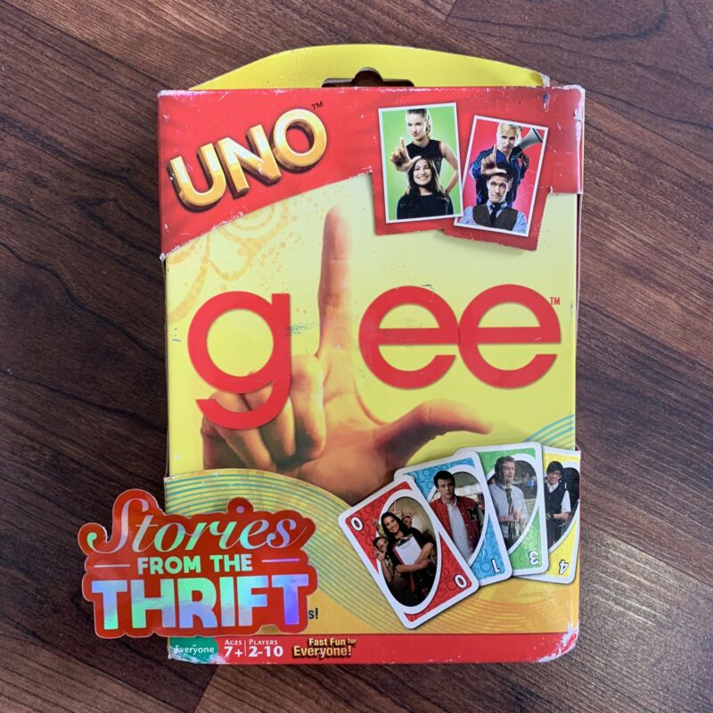 Uno Card Game Glee Edition in Collectible Tin Brand New