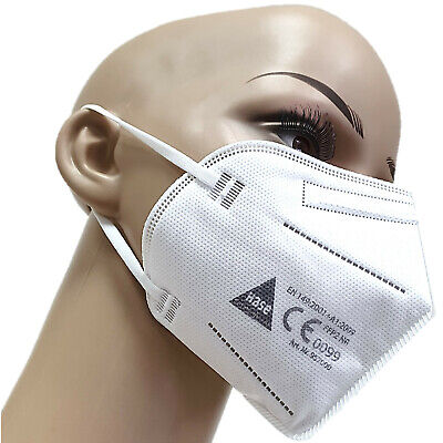 Hase FFP2 Maske Mundschutz Atemschutzmaske Schutzmaske ohne Ventil 10 Stück