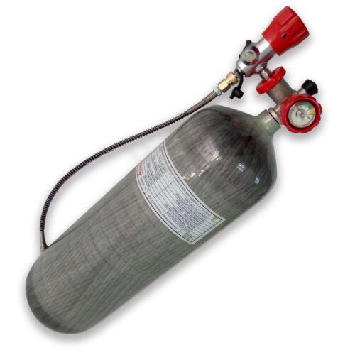 Fireman Scuba PCP Carbon Fiber Air Tank 9L CE Cylinder Pressure 30Mpa 4500Psi
