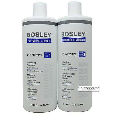 Bosley Bos Revive Shampoo & Conditioner 1 Liter for Non Color-Treated - Conditioner Color Treated Hair