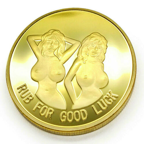 PinUp Heads and Tails Good Luck Sexy Challenge Coin US Warehouse FAST SHIPPING