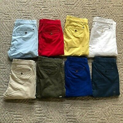 NWT Tommy Hilfiger Men's TH Flex Stretch Slim Fit Chino Pants 10 Colors All Size