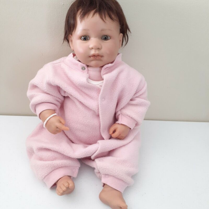 """OOAK Realistic Reborn Baby Berenguer France Weighted 6lbs Nice Detail 21"""""""