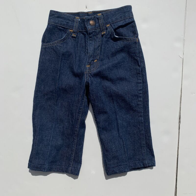 "VTG Big E Kids LEVI Strauss & Co Jeans W:9.5"" Talon Zipper Orange Tag Levi's 70s"