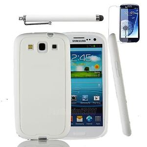Silicon TPU Soft Case Cover Skin For Samsung Galaxy S3 i9300 Screen Protector