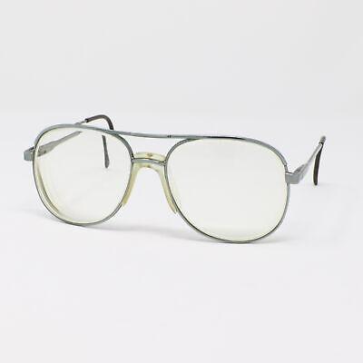 Vintage Luxottica Klixx Eyeglasses Frames Stuart Silver 54-17-140 Italy (Luxottica Glasses Frames)