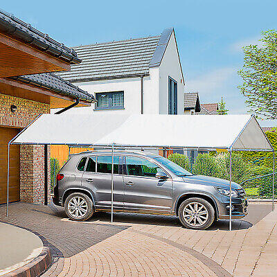 3m x 6m Heavy Duty Carport Garage Car Shelter Galvanized Steel Open...