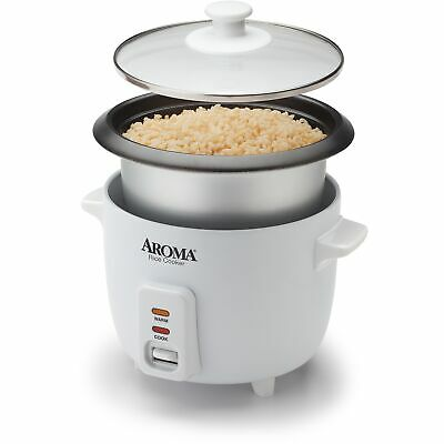 Aroma Rice Cooker 6Cup 1.5Qt. NonStick  Model ARC363NG Certified Refurbished