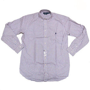 Polo Ralph Lauren Shirt Big And Tall Button Down Mens Casual Long Sleeve Woven