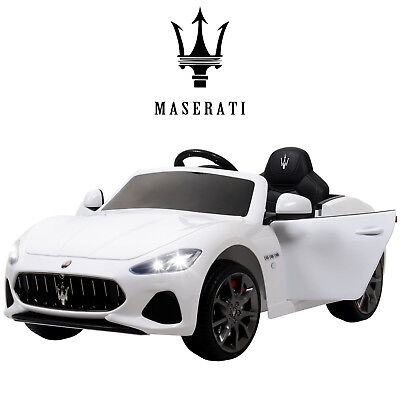 12V Maserati Gran Cabrio Electric Kids Ride On Car Toy with Remote Control White