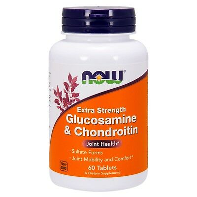 Glucosamine Chondroitin 60 Tablets - NOW® Glucosamine & Chondroitin, Extra Strength, 60 Tablets