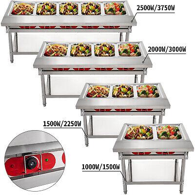 2345 Pan Steamer Steam Table Bain Marie Food Warmer Server 110v220v Hot Well