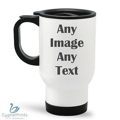 Personalised Thermal Travel Mug Custom Cup Flask Image Coffee Photo Picture Xmas - Personalized Photo Travel Mugs