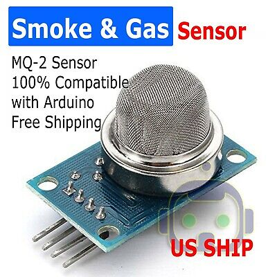 Mq-2 Smoke Hydrogen Butane Lpg Methane Sensor Detector Module For Arduino Us