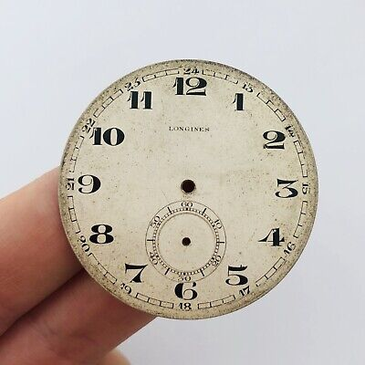 ULTRA RARE LONGINES Clock Face Dial Pocket Watch Swiss Vintage Men's Old White