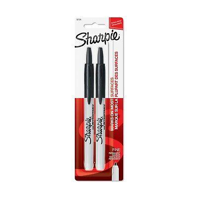 Lot Of 4 Sharpie Retractable Fine Point 2ct Black Nip 8 Total 32724