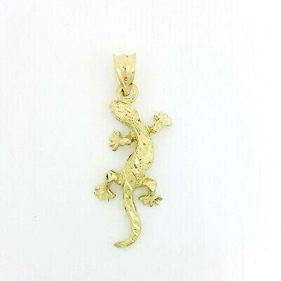 New 10k yellow Gold gecko lizard Pendant charm fine jewelry 1.09