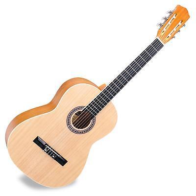 Guitare Classique Acoustique Instrument Debutants 6 Cordes Taille 4/4 Naturelle
