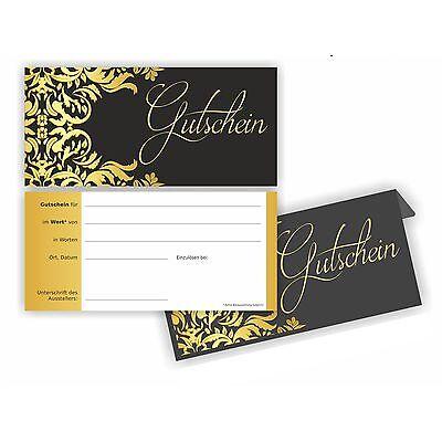 Gutschein Karte Edel I elegante luxus Gutscheine Geschenk Geschenkgutschein
