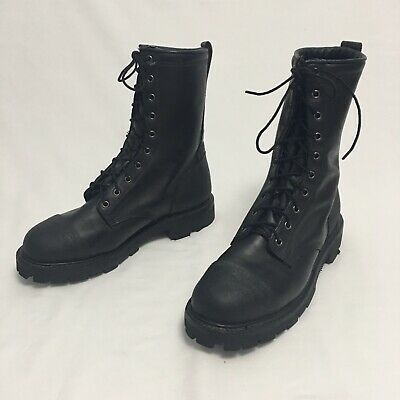 Thorogood Wildland Forest Fire Boots Mens 10 M Black Leather Made In Usa 10 Inch
